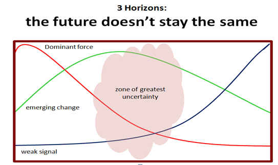 Three Horizons Future never stays the same