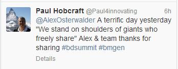 Alex terrific day tweet.