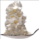Whipped Cream on a spoon