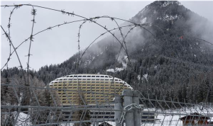 Keeping our global leaders safe, behind the barbed wire of Davos.