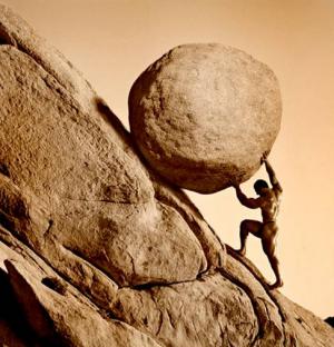 Pushing the world uphill
