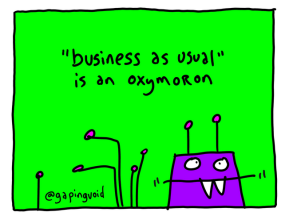 business as usual oxymoron