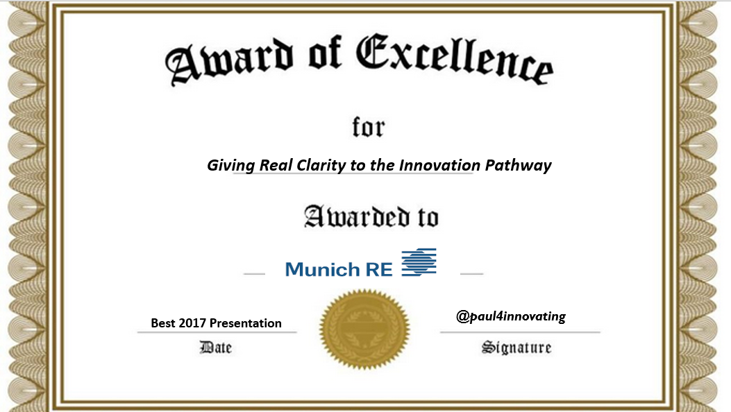 Munich Re Award Of Excellence | Paul4innovating's ...